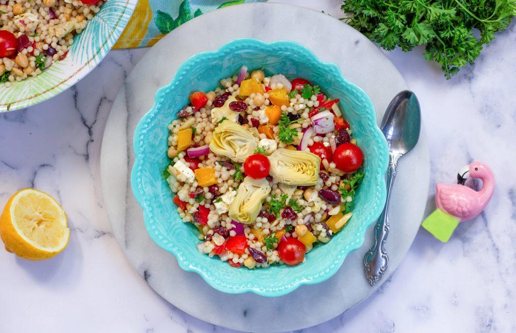 Pearl Couscous Mediterranean salad