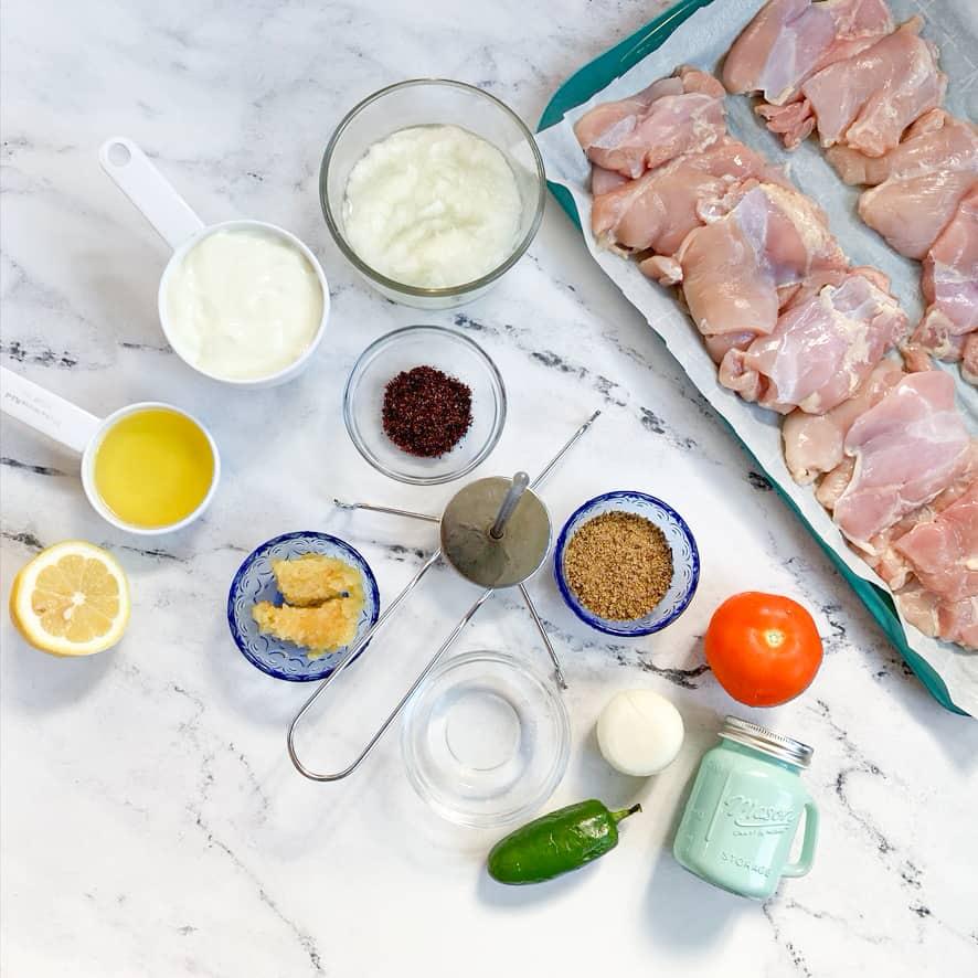 chicken shawarma ingredients