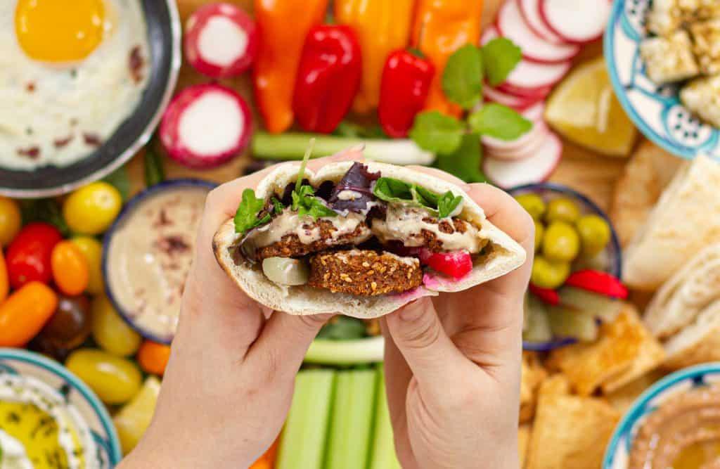Falafels sandwich