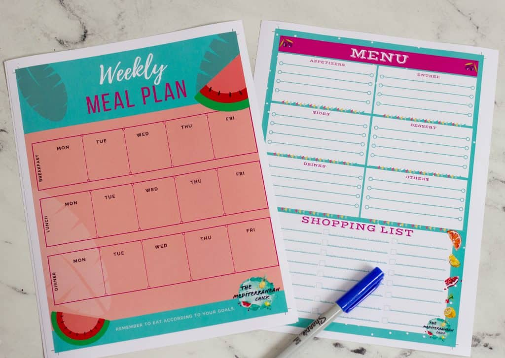 meal and party menu planner